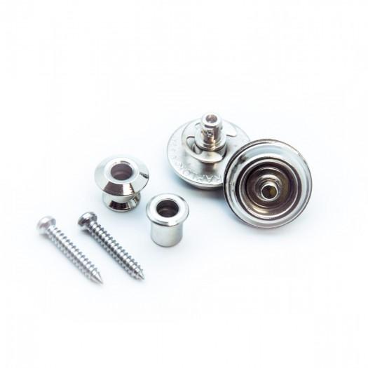 Nickel plated Dunlop strap locks