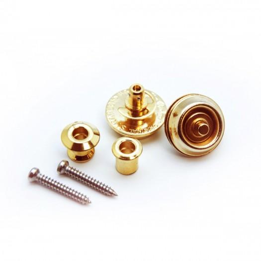 Gold plated Dunlop strap locks